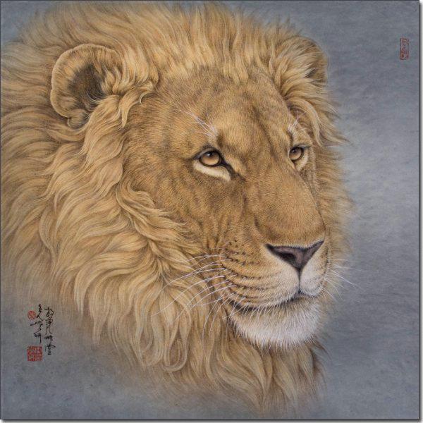 雄狮 68x68cm