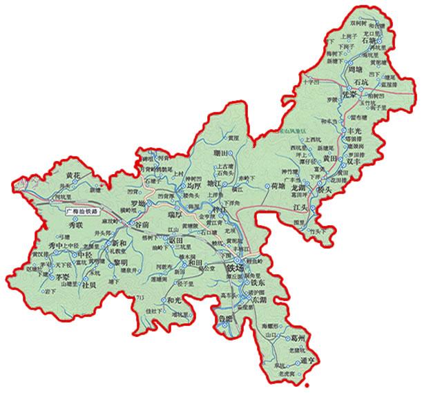 龙川风景区地图