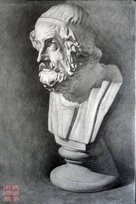素描大卫石膏范围 素描石膏头像图片;