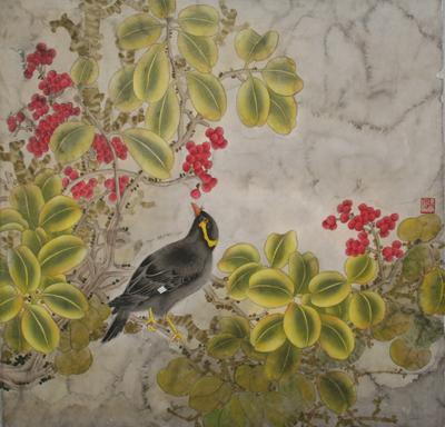 工笔花鸟画教程 六 鹩哥的画法