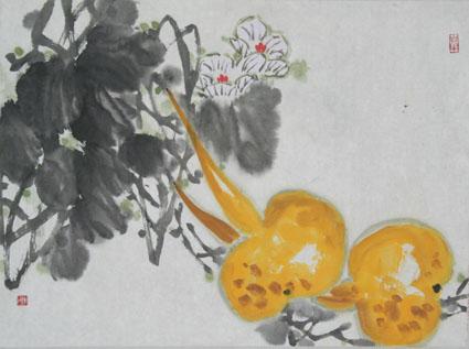 写意花鸟画教程(六)--葫芦,丝瓜,扁豆的画法