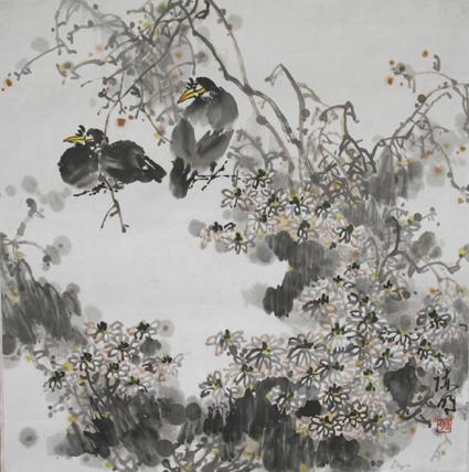 写意花鸟画教程(八)--菊花的画法
