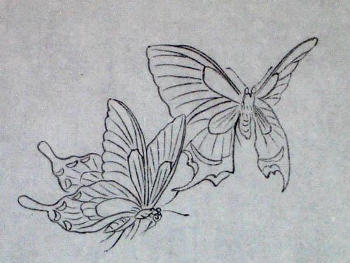 七)--蝴蝶的画法