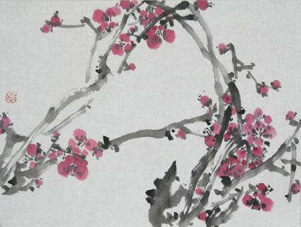 梅花的画法--泰安市老年大学