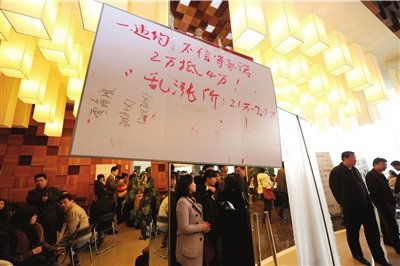 北京一处楼盘日涨4千引上千购房者抗议(图)