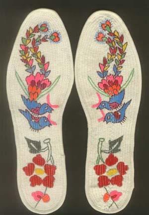大格十字绣鞋垫图样,十字绣鞋垫放大图纸