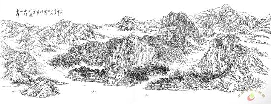 高清山水风景速写图片-喀左县七色光美术教室