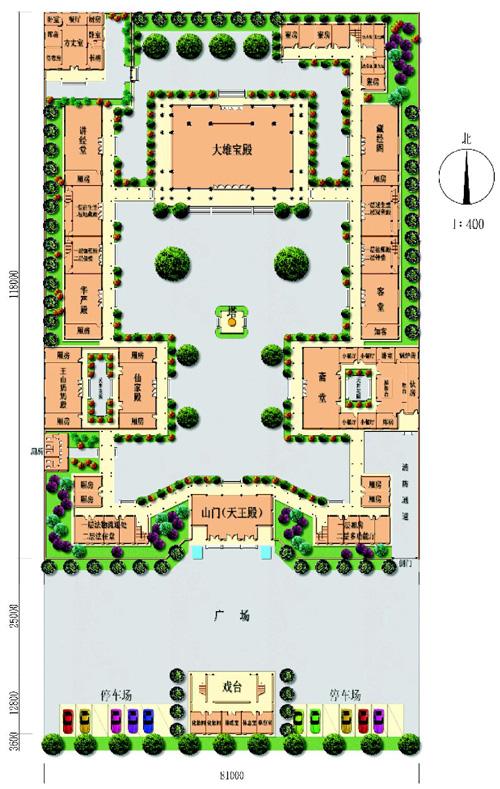 店集镇观音寺总体平面图