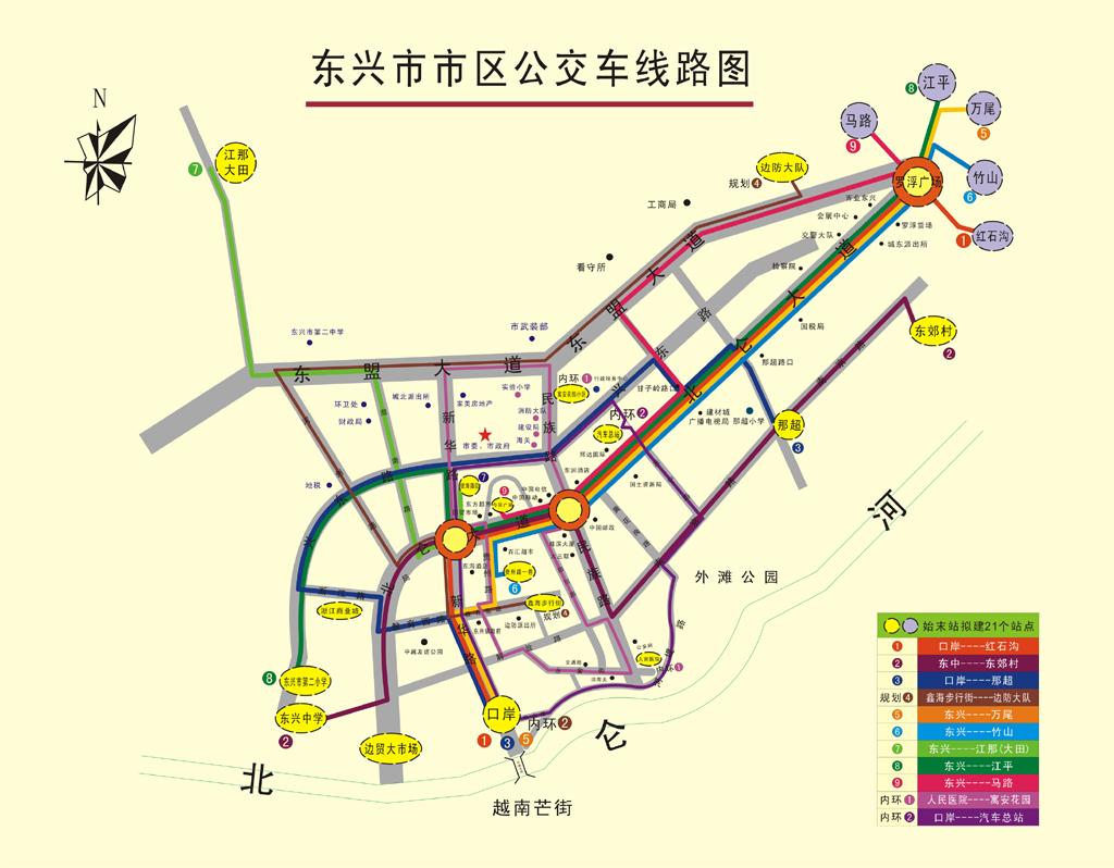 京岛风景名胜区有东兴市区至景区专线车开通,每天6:00—20:00往返运行