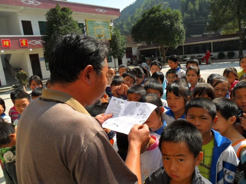 15-20日,广西第六次全国人口普查中小学生宣传活动在资源县各学校