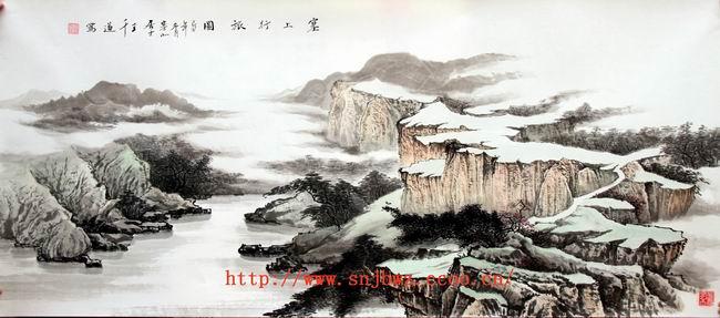 彩铅手绘祖国山河