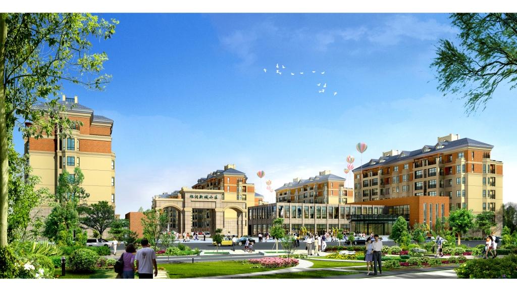 小区位于商河县新城东部