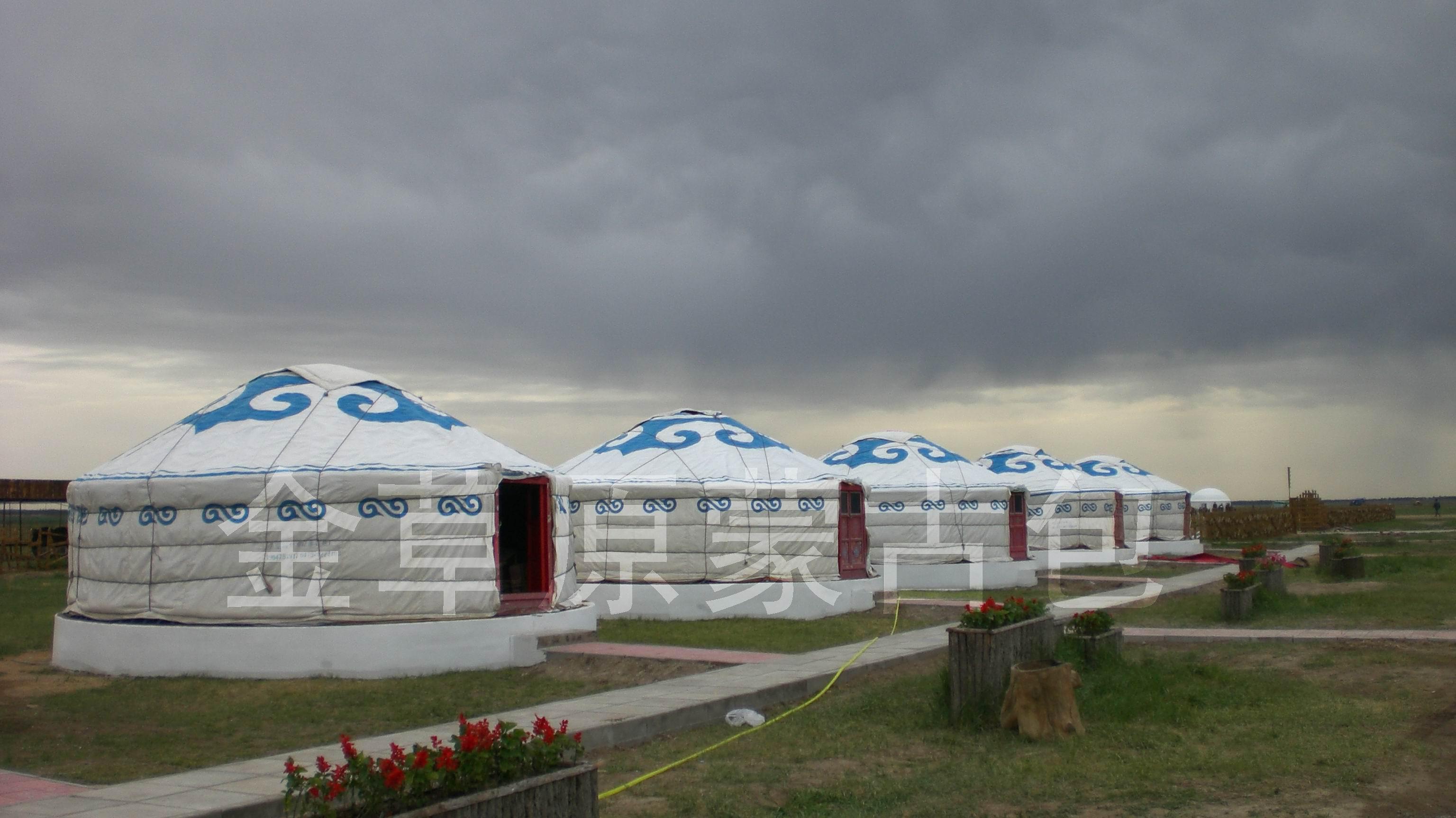 金草原蒙古包在张北中都 高清图片