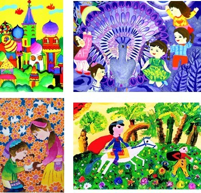 教师彩色线描画作品内容图片展示_教师彩色线描画作品图片下载