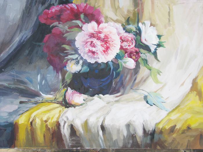康乃馨手绘水粉