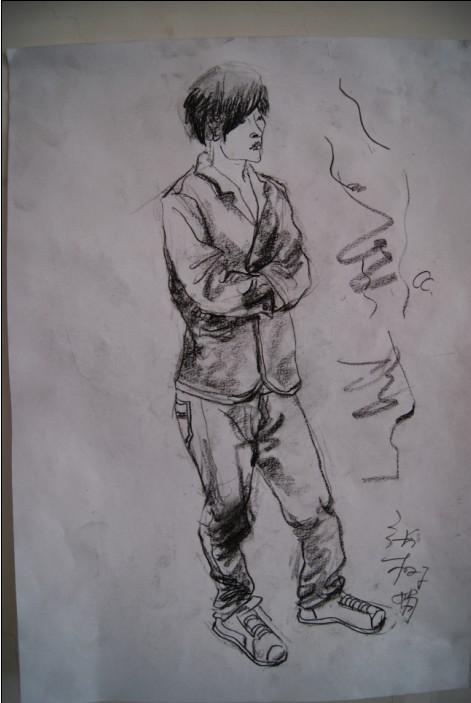 人物速写 速写人物图片 美术高考人物速写