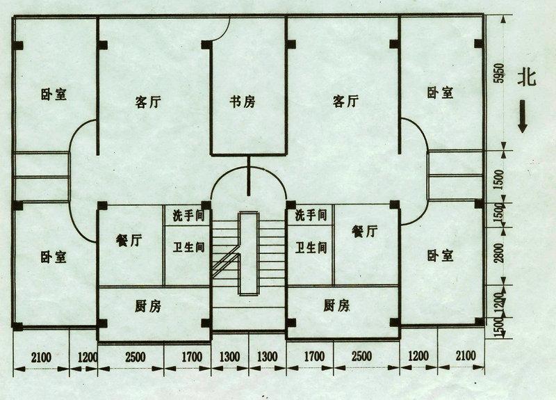 三室二厅房屋设计图