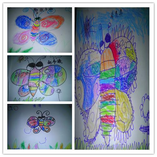 幼儿园简单画画蝴蝶