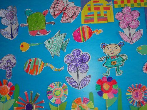 幼儿园春天风景简笔画