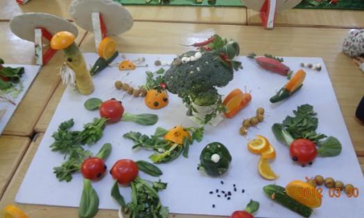 3月31日大六班举行蔬菜水果创意活动