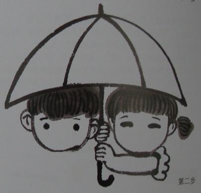 儿童水墨画伞-龙川县丹青坊少儿书画培训中心