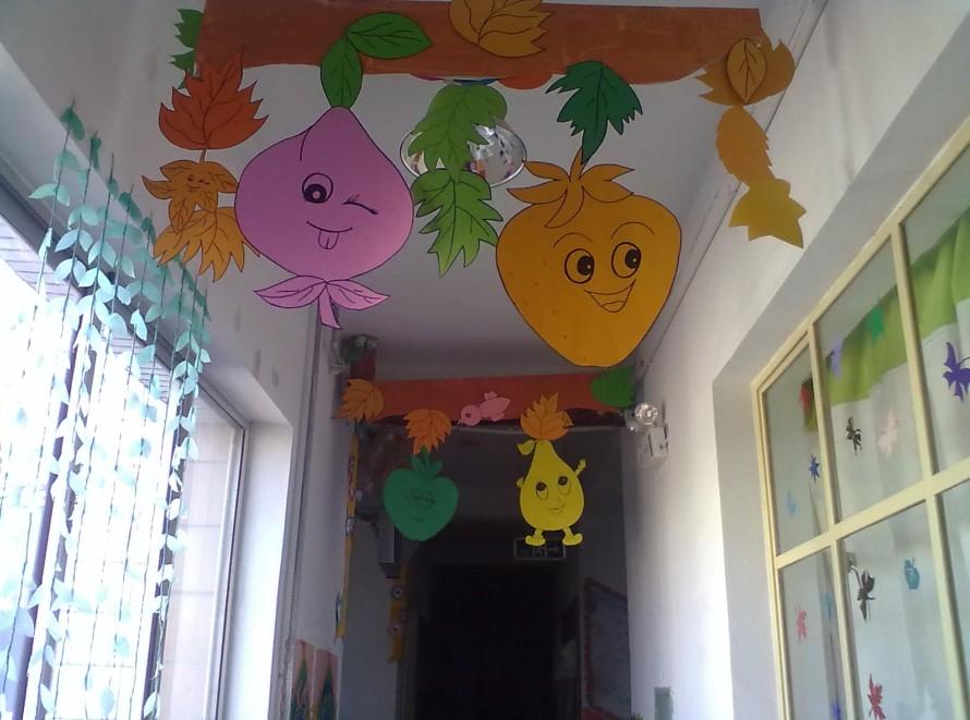 小班主题墙可爱的水果