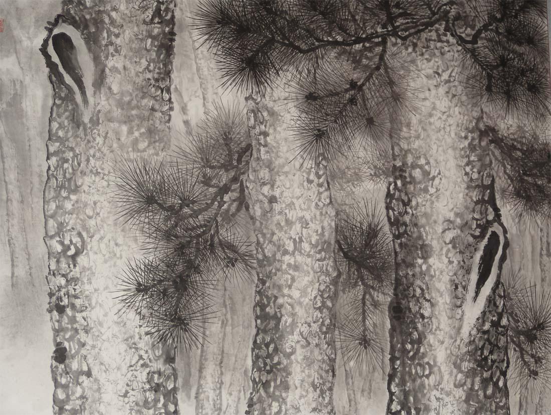松树工笔画法