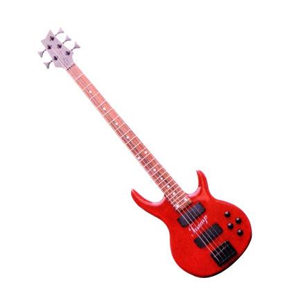 电贝司(electric bass)   应用谱号:低音谱号,不移调高八度记谱.