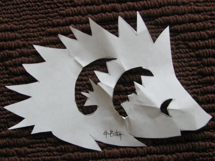 刺猬剪纸步骤