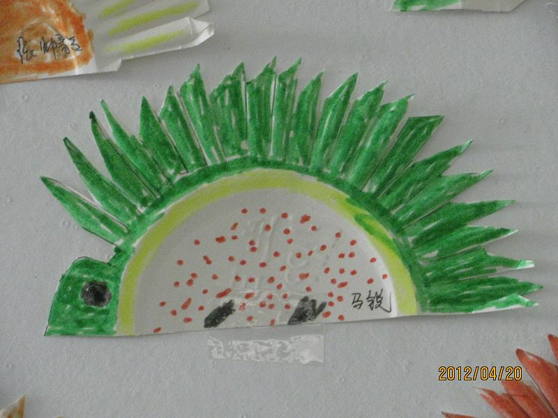 纸杯手工制作小动物刺猬