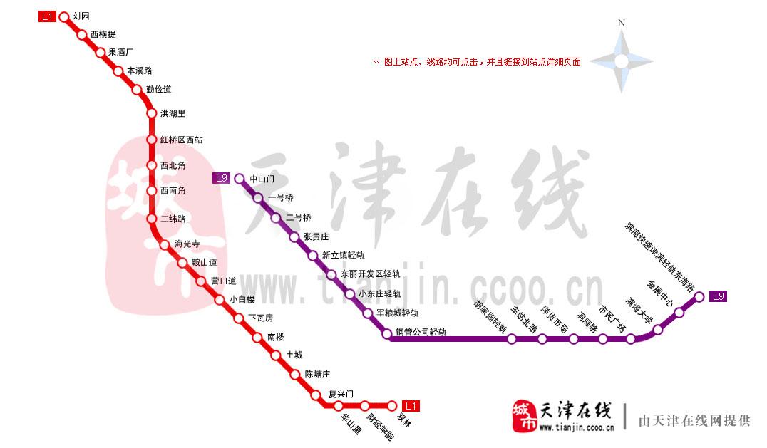 天津地铁线路图_天津在线