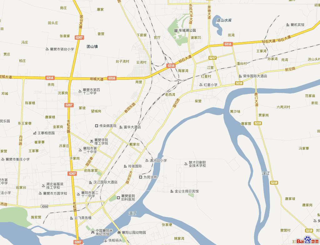 襄阳市区地图