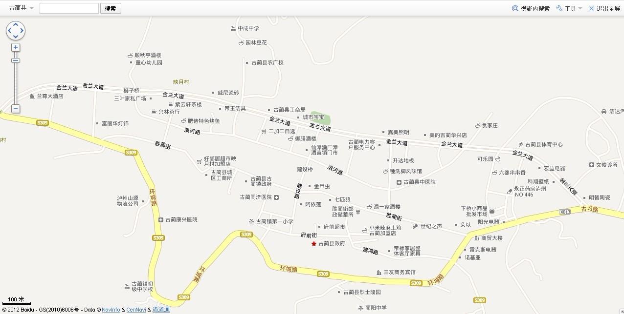 古蔺城区地图