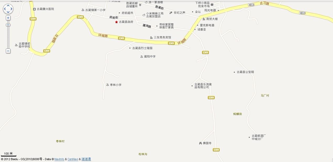 古蔺城区地图 古蔺地图